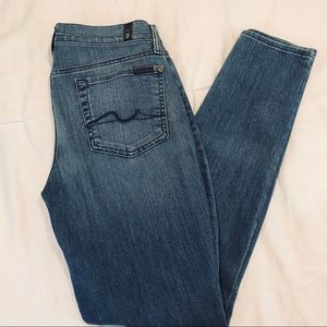 7 for all mankind Gwenevere skinny jeans size 29